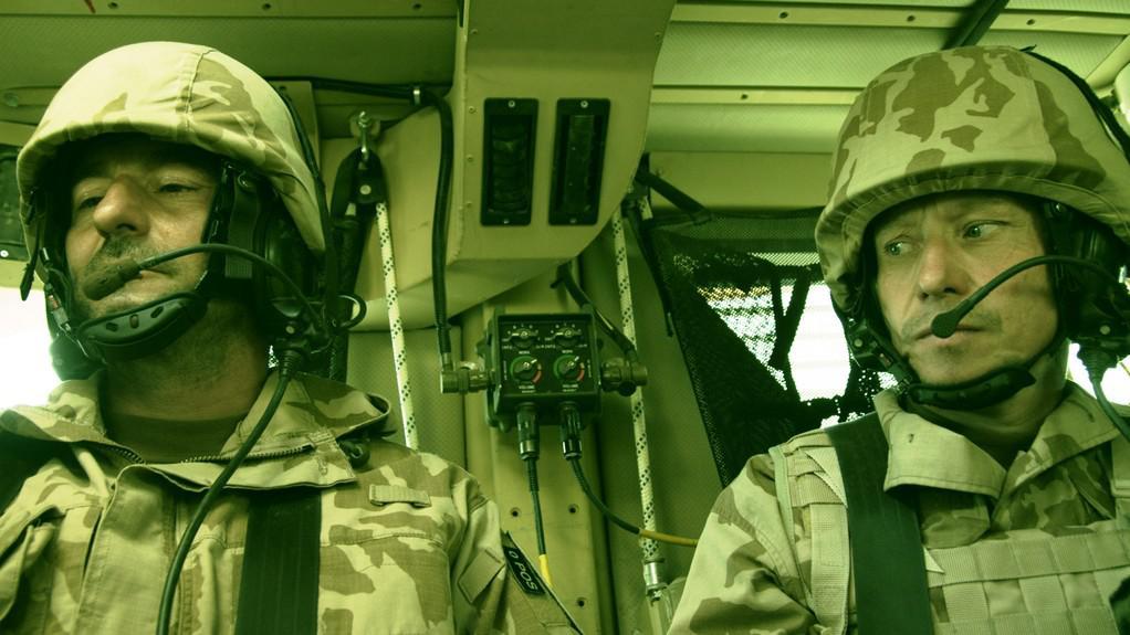 Ondřej Vetchý a Ondřej Malý při natáčení filmu Všiváci v Afghánistánu