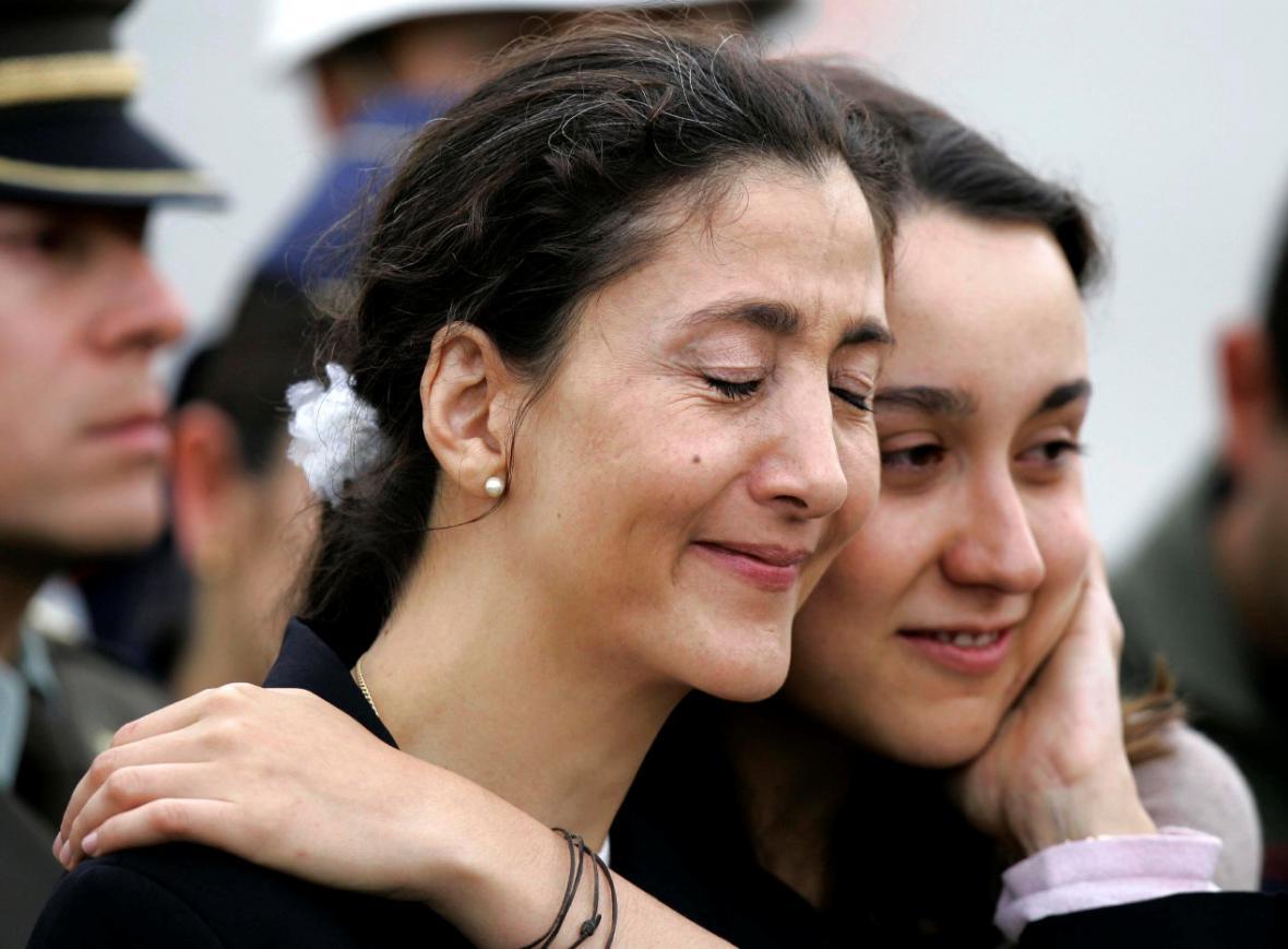Ingrid Betancourtová s dcerou Melanií