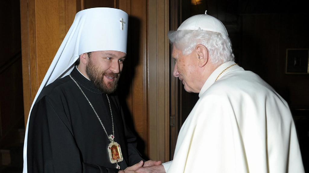 Setkání papeže se zástupcem ruské pravoslavné církve Ilarionem