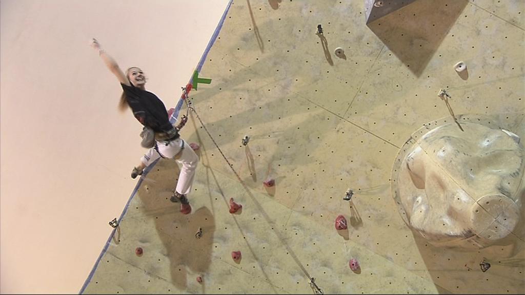 Andrea Pavlincová jako jediná lezkyně dosáhla ve finále topu