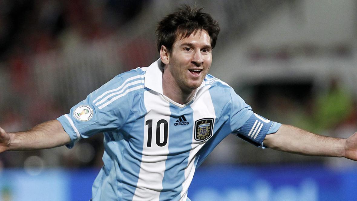 Lionel Messi v dresu Argentiny