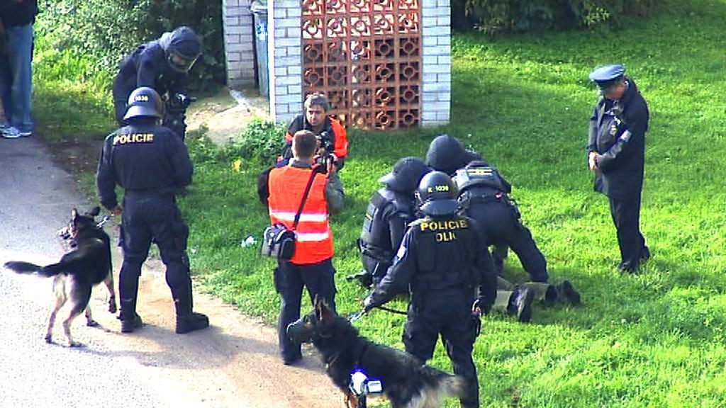 Policisté cvičili zákrok proti demonstrantům
