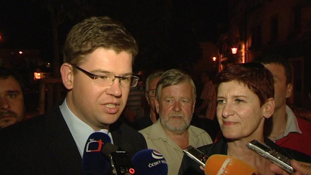 Jiří Pospíšil po příjezdu do Plzně na zasedání regionální rady ODS