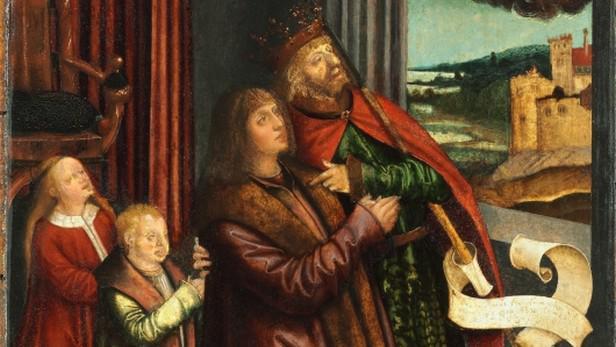 Obraz Vladislava II., krále českého a uherského, s dětmi Annou a Ludvíkem