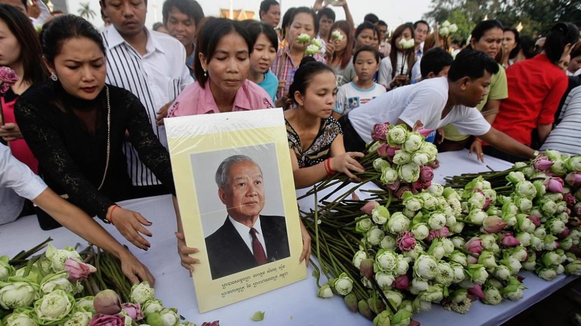 Kambodža truchlí za bývalého krále Norodoma Sihanuka