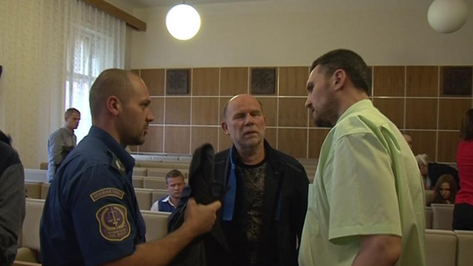 Petr Křipský se svým obhájcem