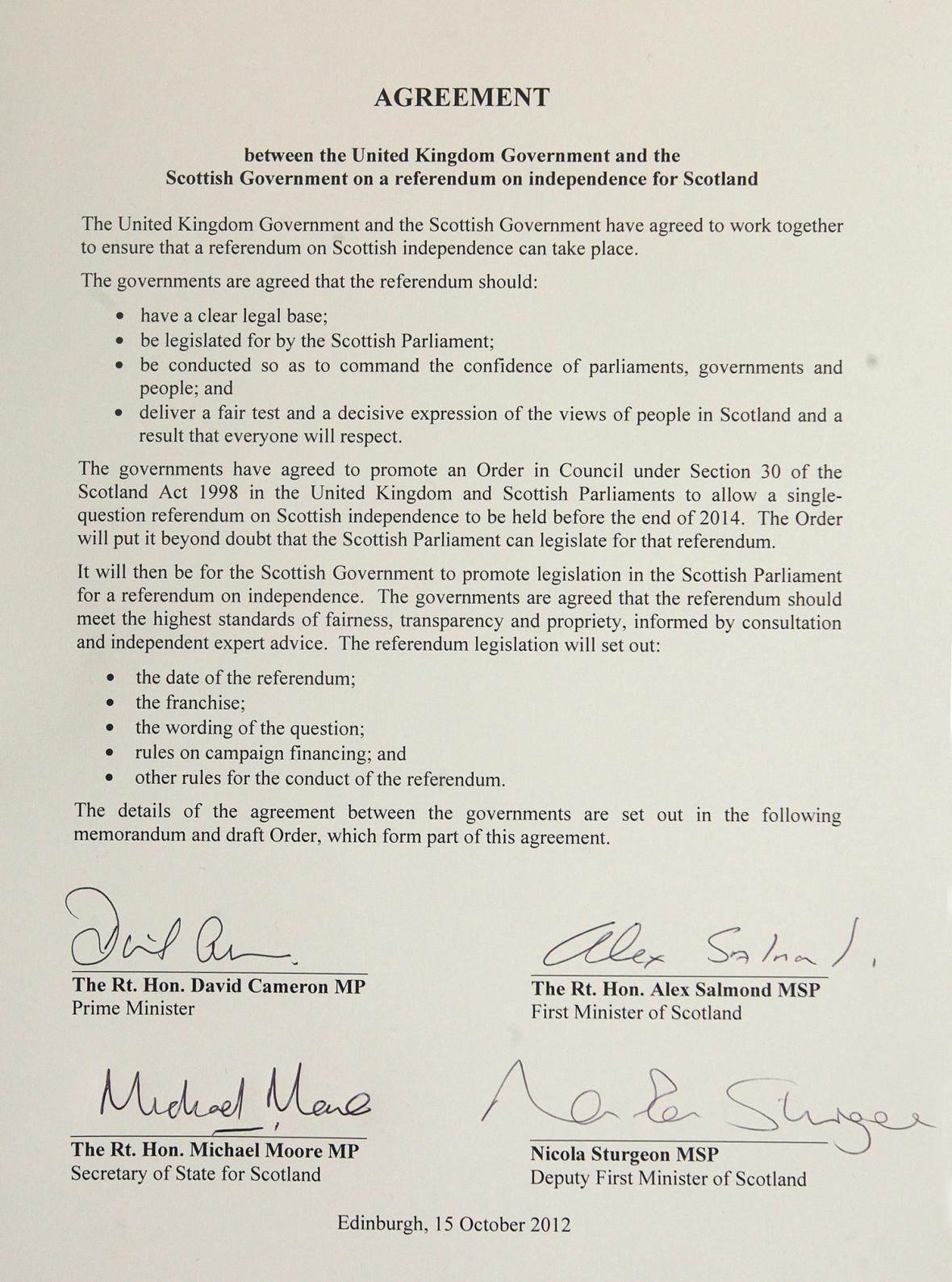 Dohoda o uspořádání skotského referenda