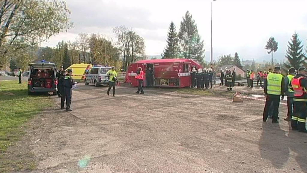 Jeseničtí hasiči zkoušeli třídění zraněných při hromadné havárii