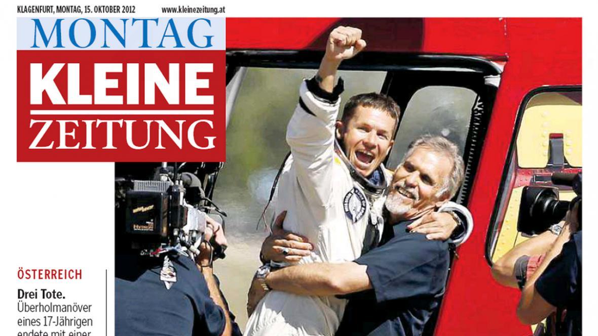 Kleine Zeitung o Baumgartnerově skoku