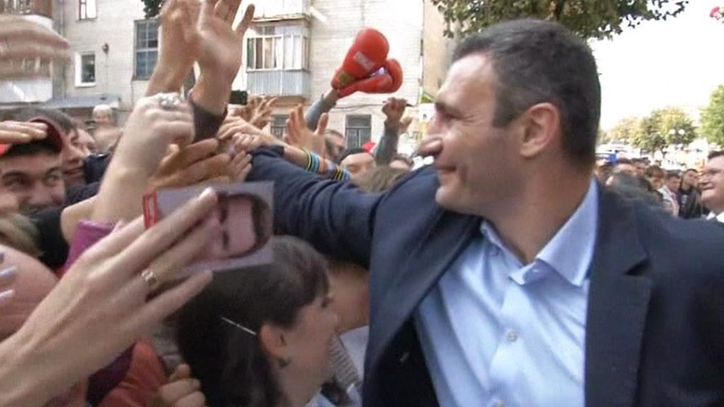 Vitalij Kličko na setkání s voliči