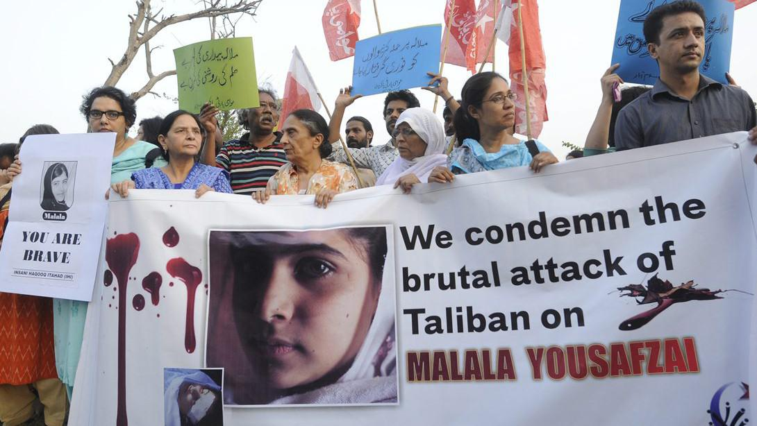 Prostesty lidskoprávních aktivistů v Islámábádu