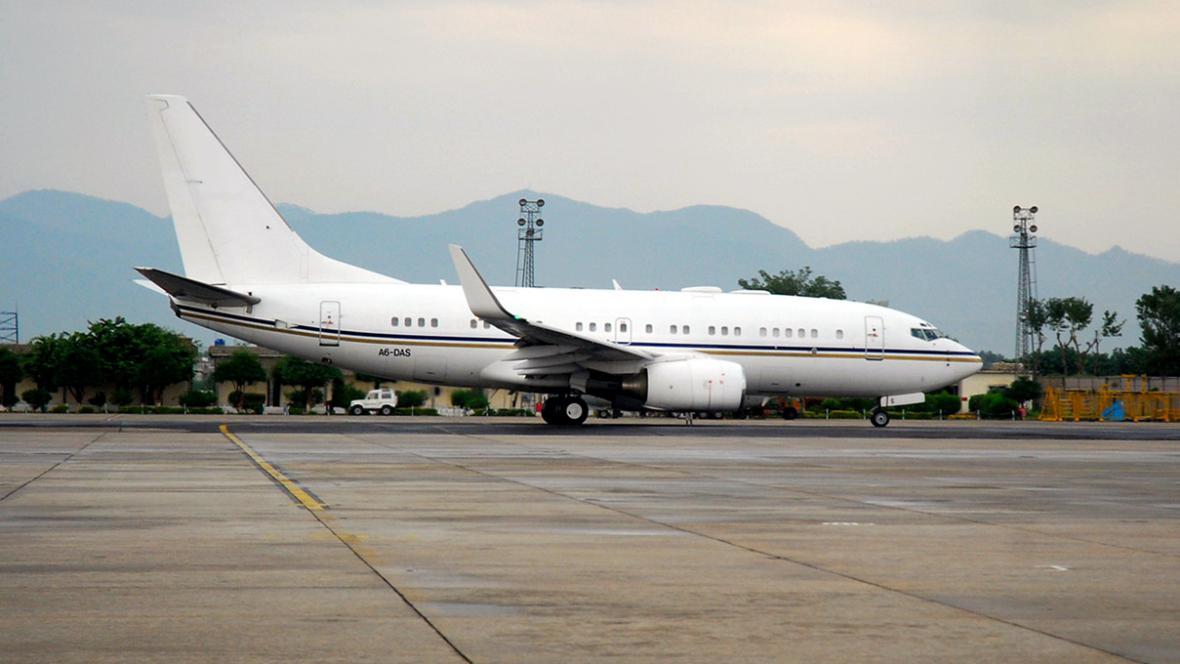 Letadlo odváží Malalaj Júsufzaiovou z Rávalpindí