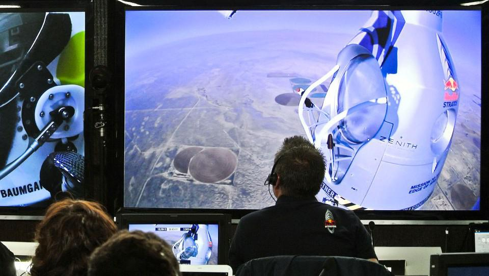 Řídicí středisko Baumgartnerova letu