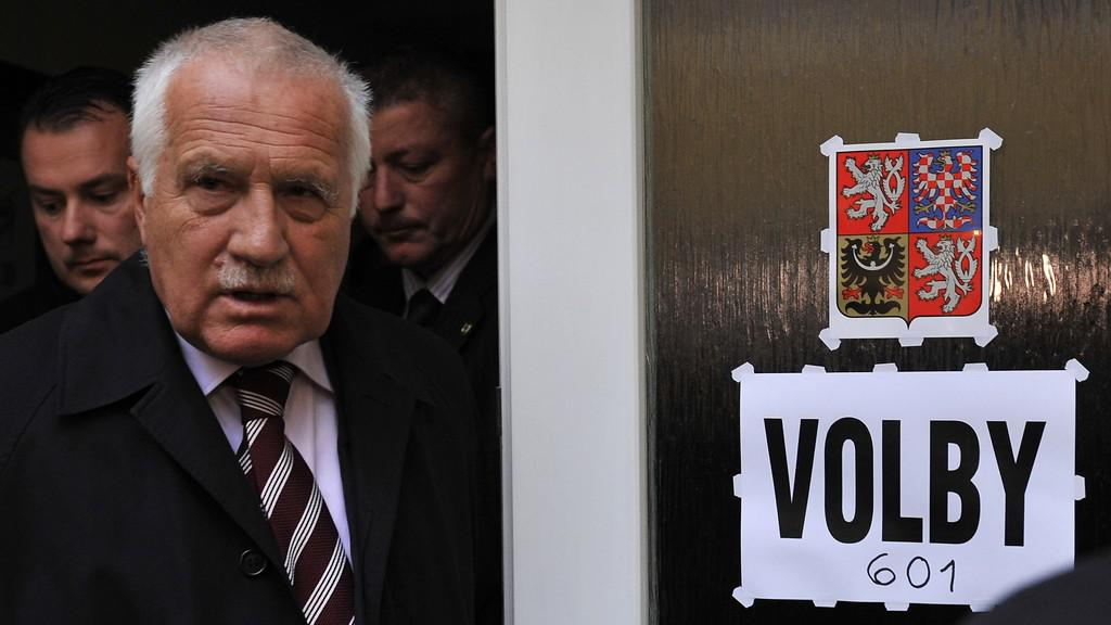 Václav Klaus u voleb