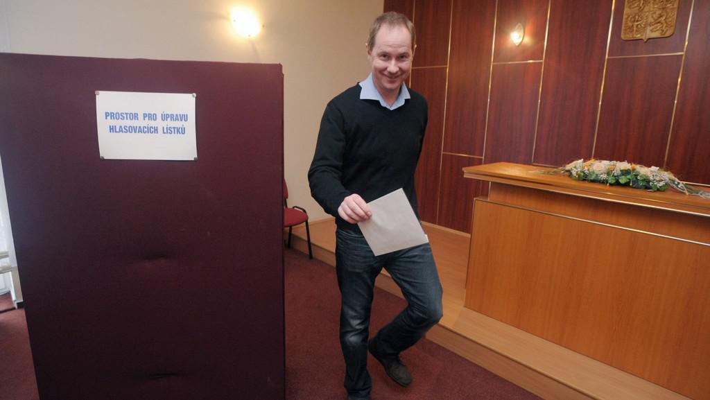 Petr Gazdík u voleb