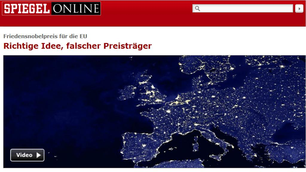 Der Spiegel komentuje udělení Nobelovy ceny