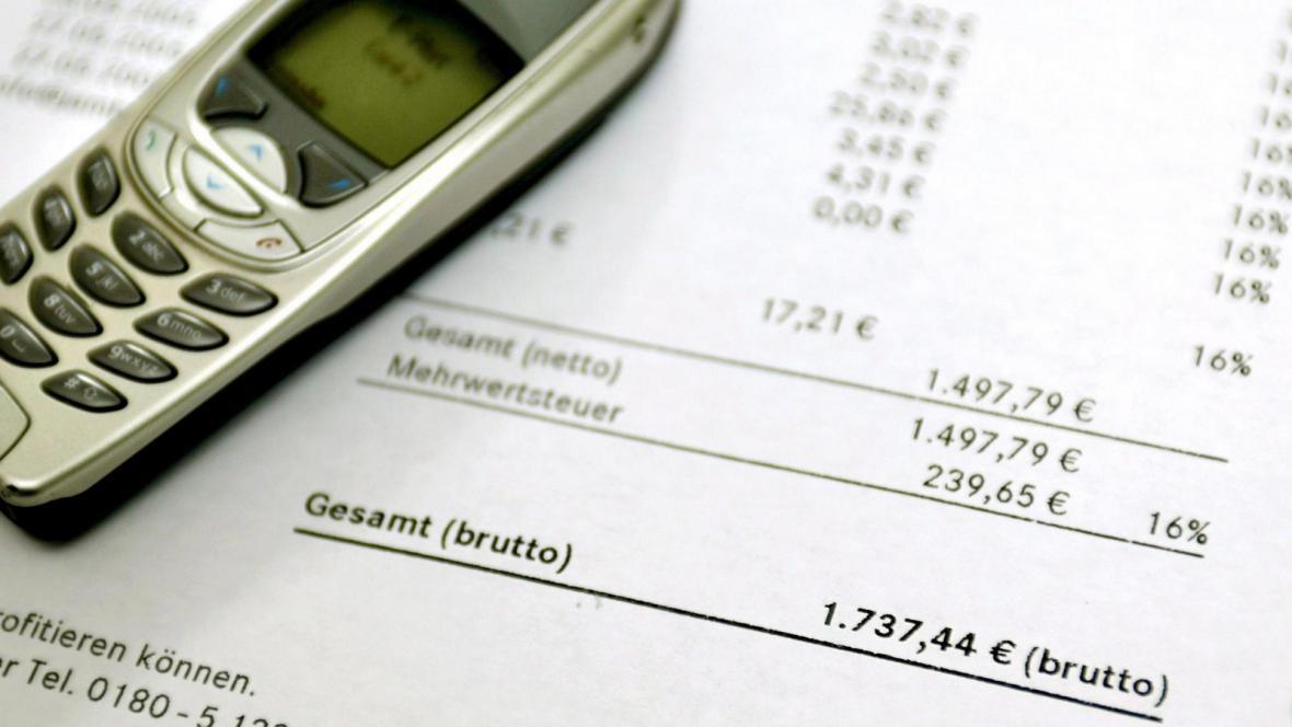 Účet za telefon