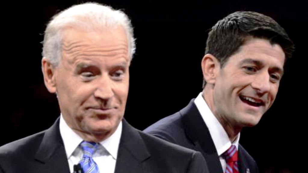 Joe Biden a Paul Ryan