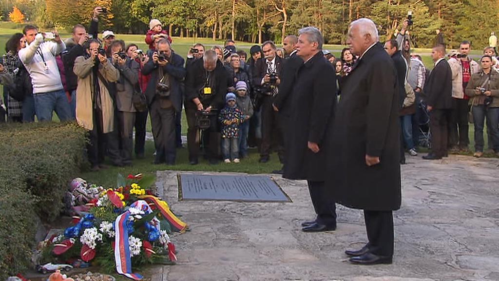 Německý prezident na návštěvě Lidic