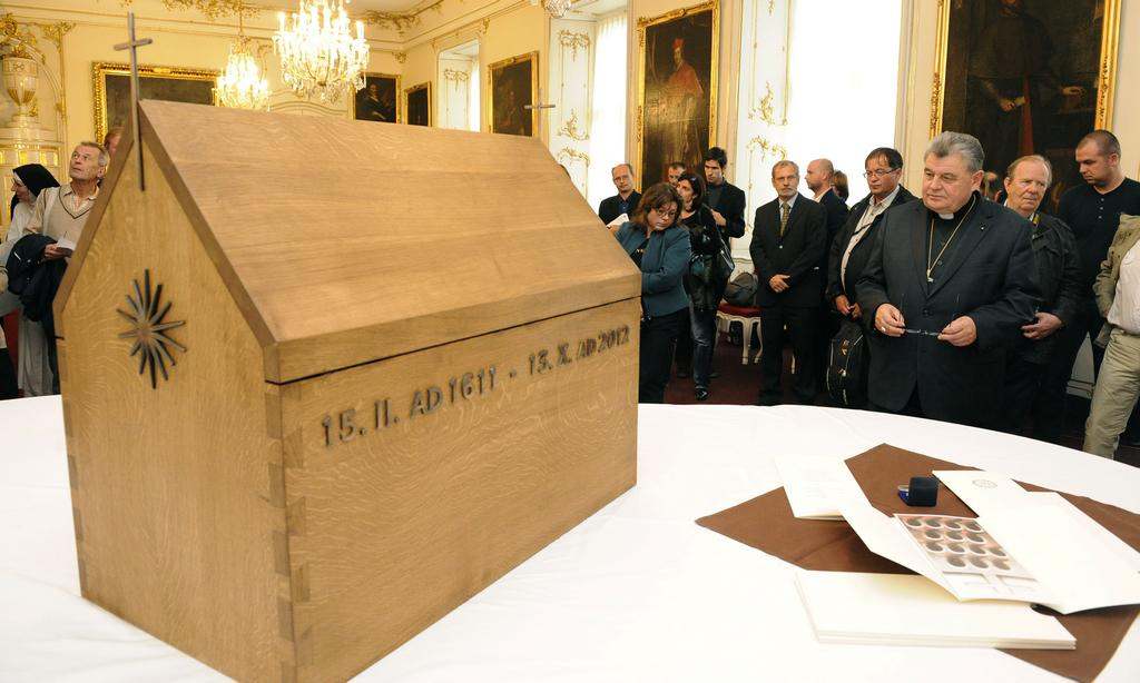 Relikviář, v němž budou uloženy ostatky umučených františkánů