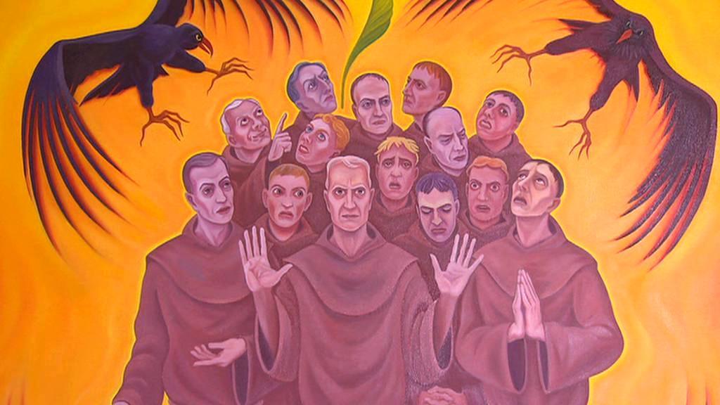 Beatifikační obraz k blahořečení 14 františkánů