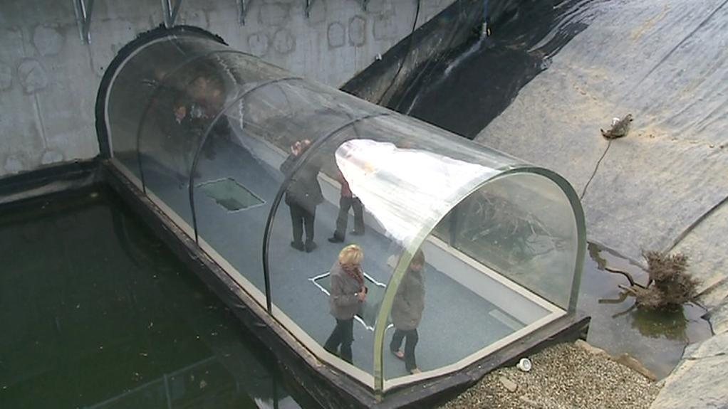 Tunel pod vodní hladinou