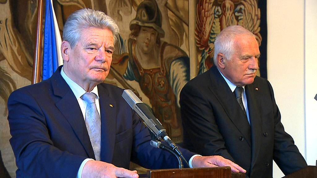 Joachim Gauck a Václav Klaus