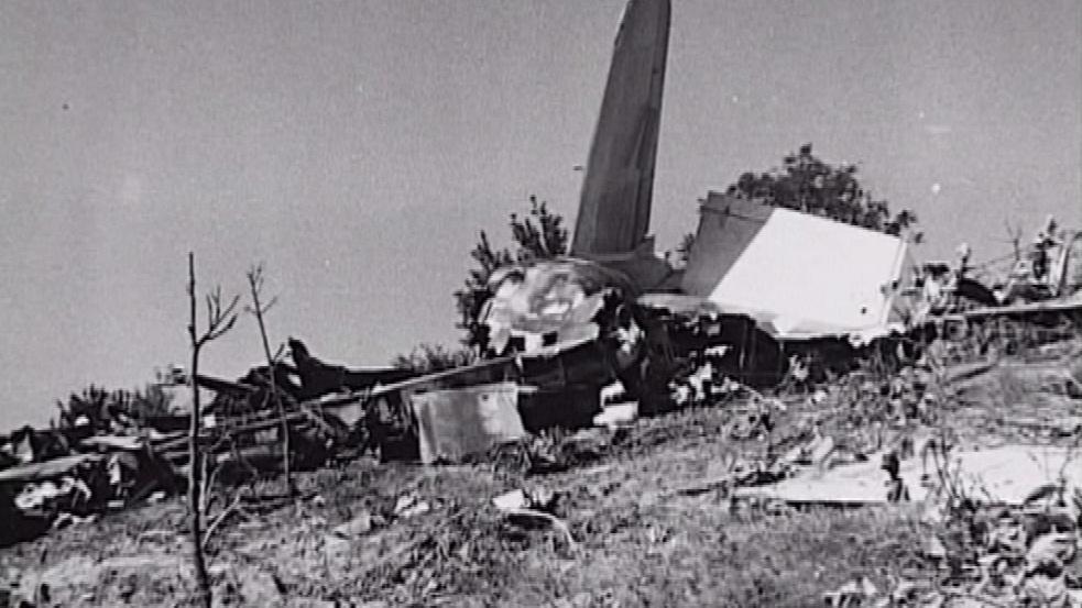 Dobová fotografie místa havárie