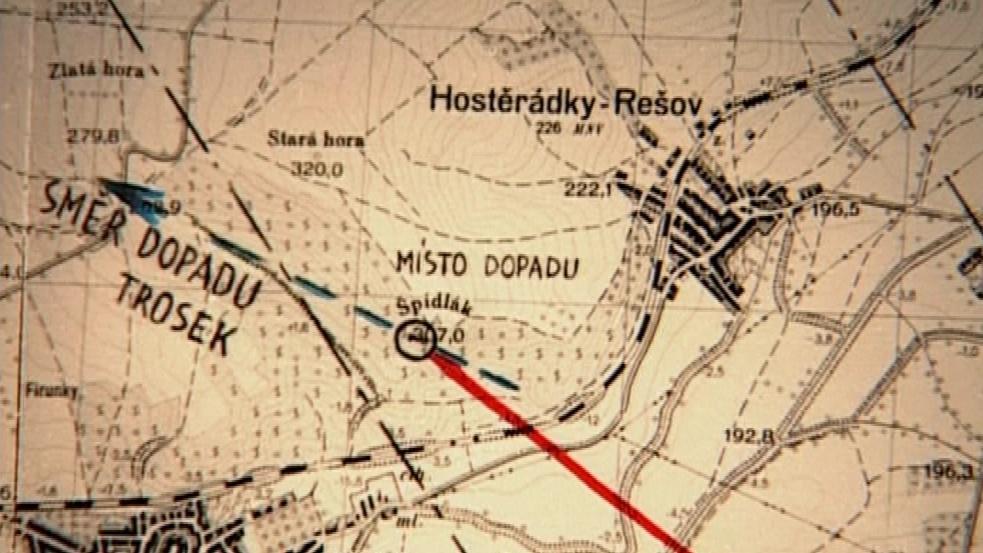 Letadlo narazilo do kopce Šidlák rychlostí 230 km/h