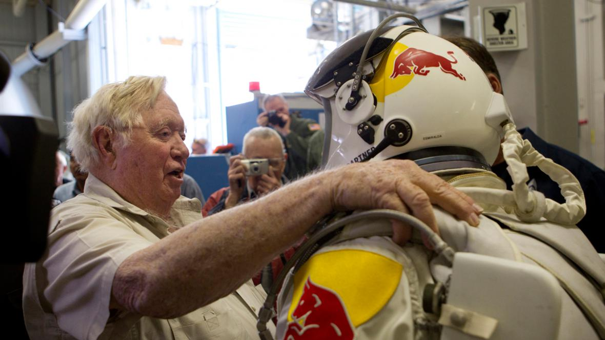 Joe Kittinger a Felix Baumgartner