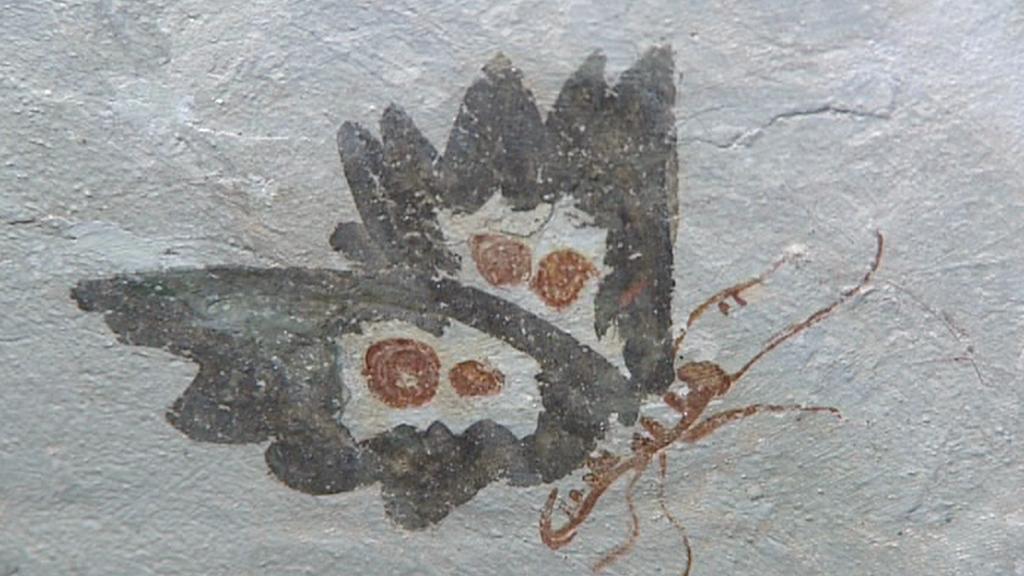 Detail malby na zámku Nebílovy
