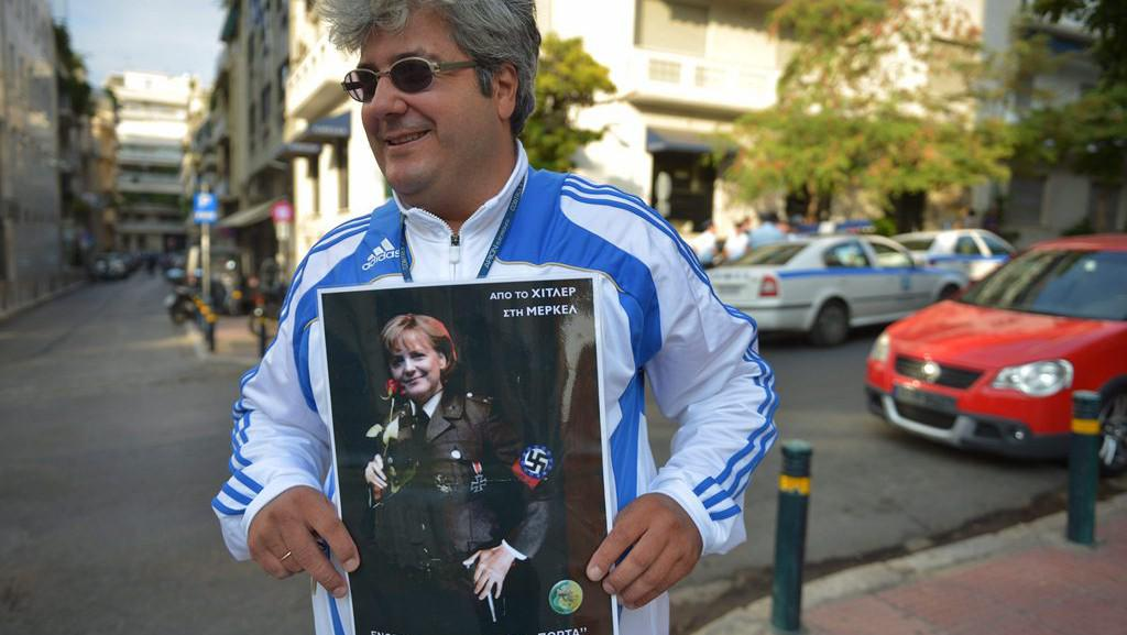 Angela Merkelová na návštěvě Řecka
