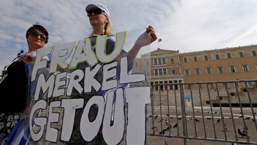 Řecké přivítání Angely Merkelové