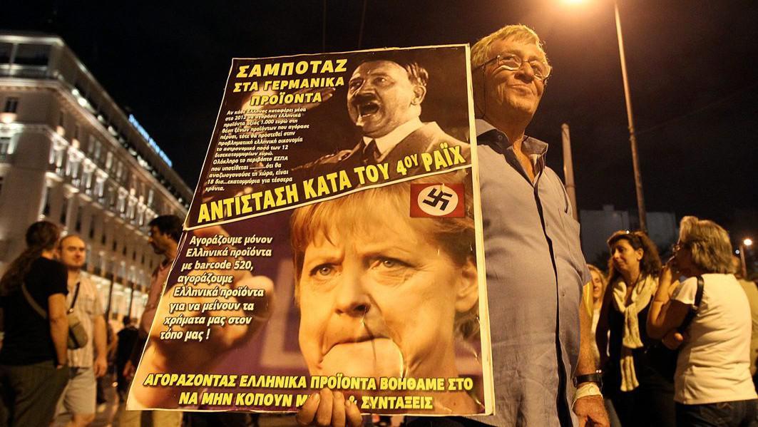 Protesty proti návštěvě Angely Merkelové