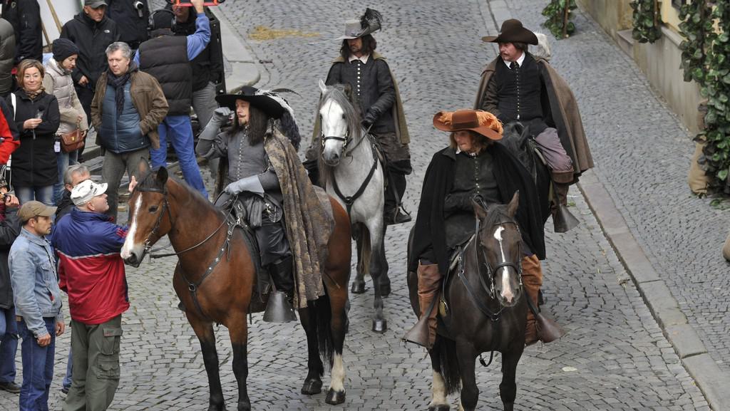 Natáčení Tří mušketýrů v Olomouci