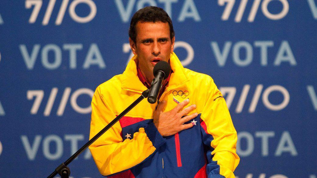 Henrique Capriles Radonski hovoří po vyhlášení výsledku voleb