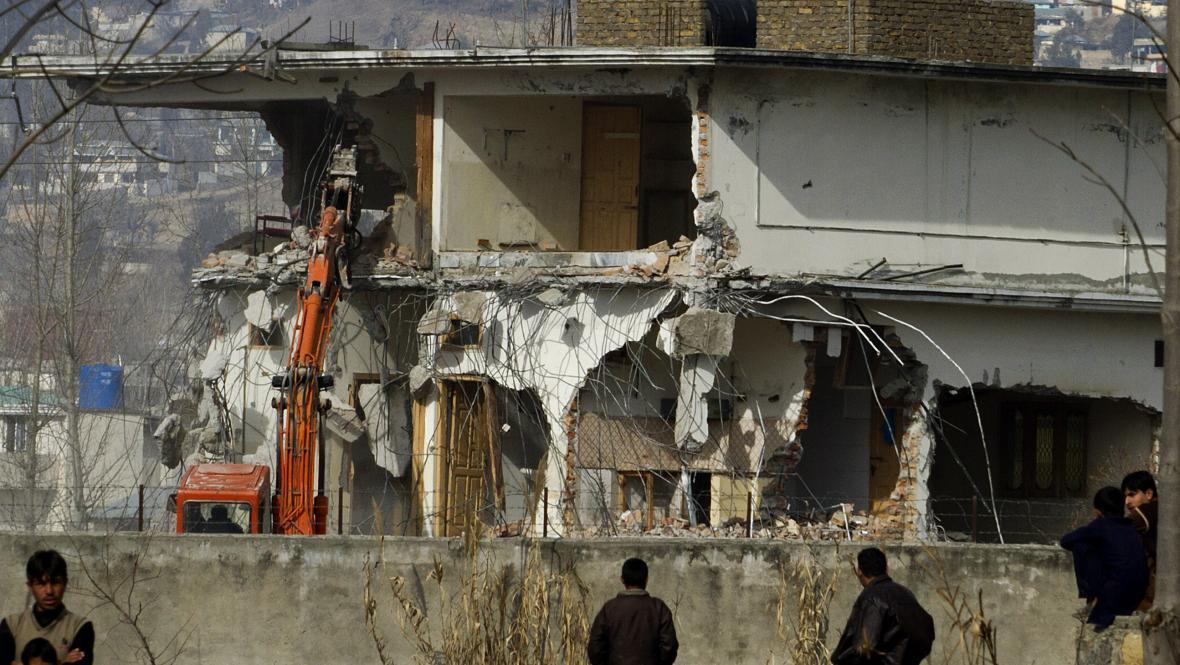 Demolice Usámova sídlo v Abbottábádu