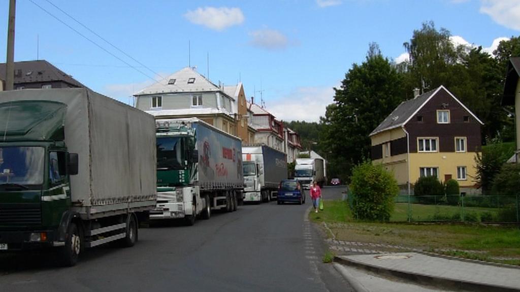 Kamiony v Nejdku