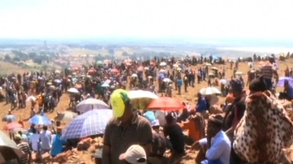 Protest jihoafrických horníků