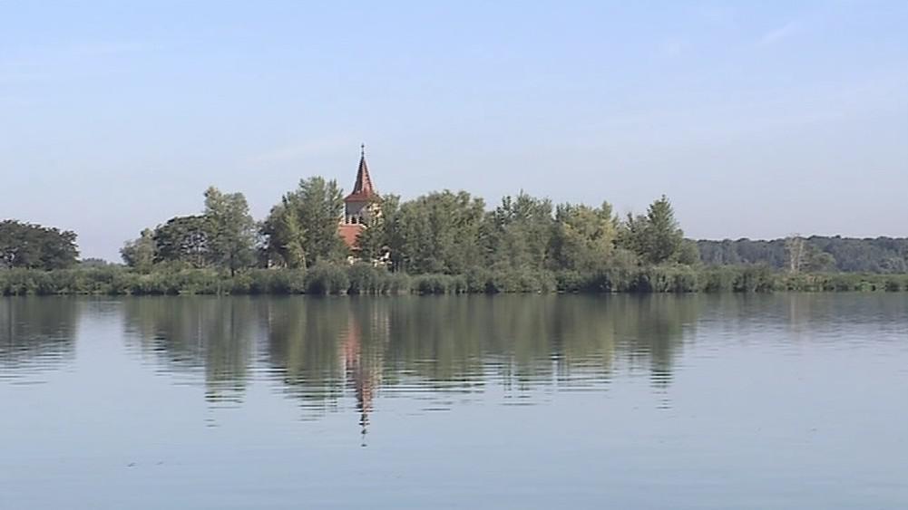Ostrov s kostelem sv. Linharta