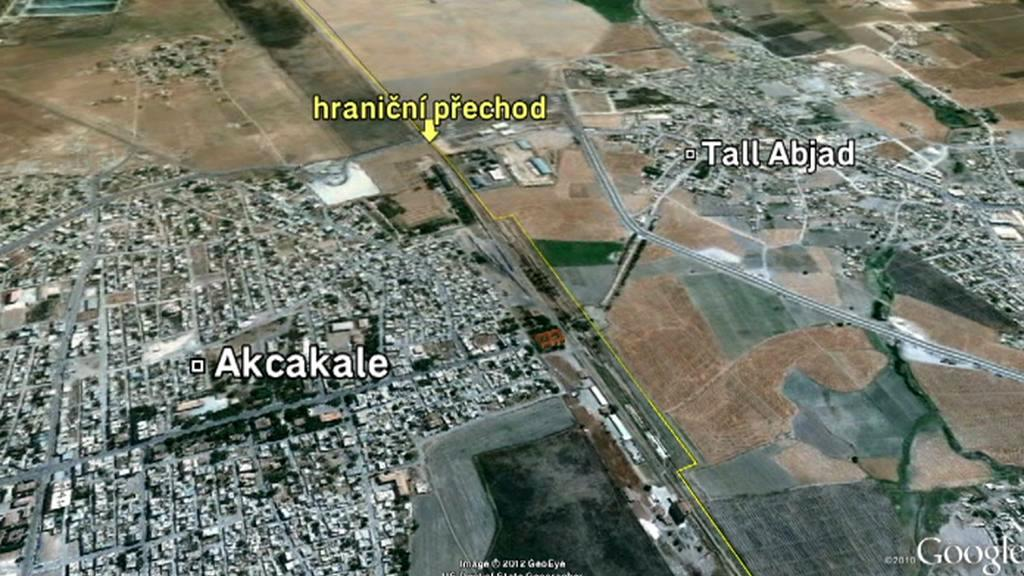 Místo incidentu na turecko-syrské hranici