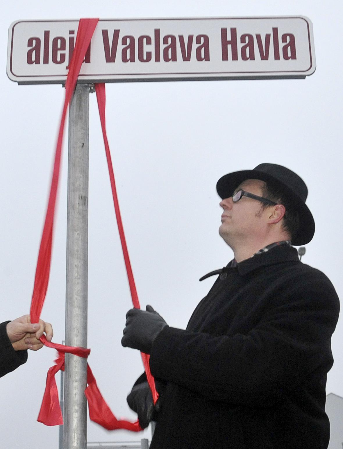 Ulice v Gdaňsku pojmenovaná po Václavu Havlovi