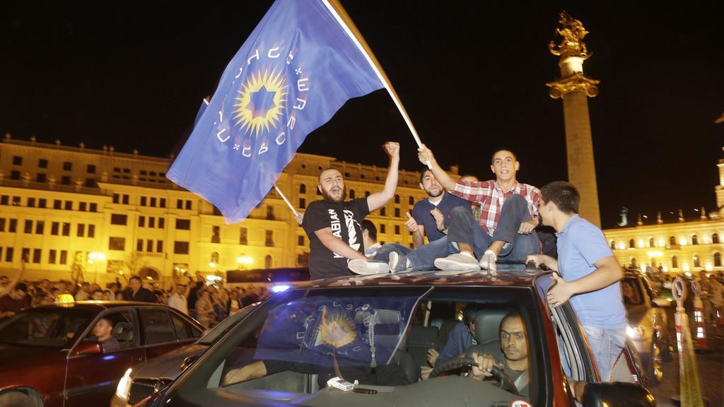 Opozice slaví výsledek voleb v Gruzii