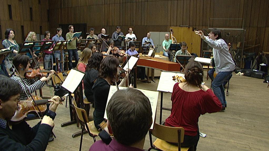 Collegium 1704 při zkoušce Janových pašijí J. S. Bacha