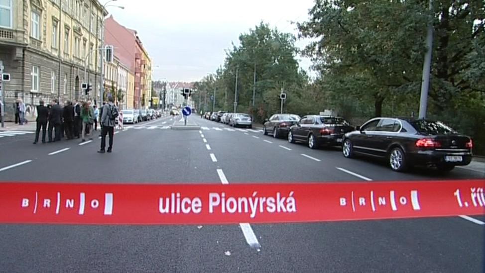 Slavnostní otevření Pionýrské ulice v Brně