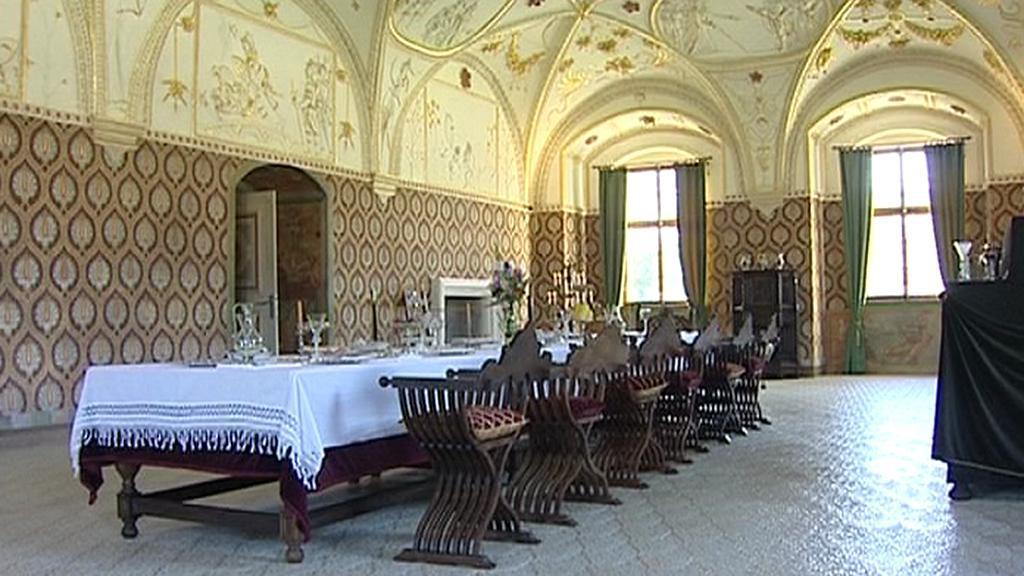Interiéry zámku Kratochvíle