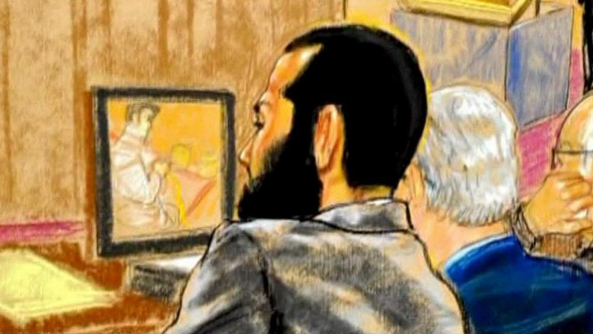 Omar Khadr na soudní kresbě