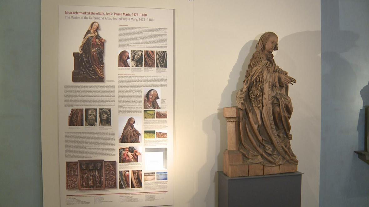 Mistr Kefermarktského oltáře / Socha sedící Panny Marie