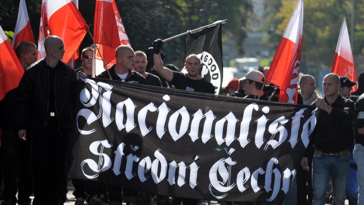 Pochod nacionalistů v Kralupech nad Vltavou