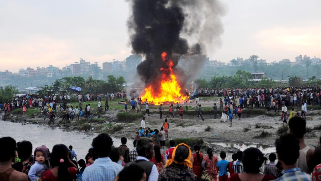 Zřícené letadlo v Káthmándú